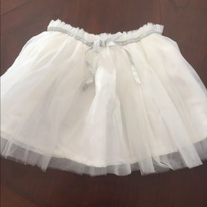 Carter's white tutu with silver embellished.
